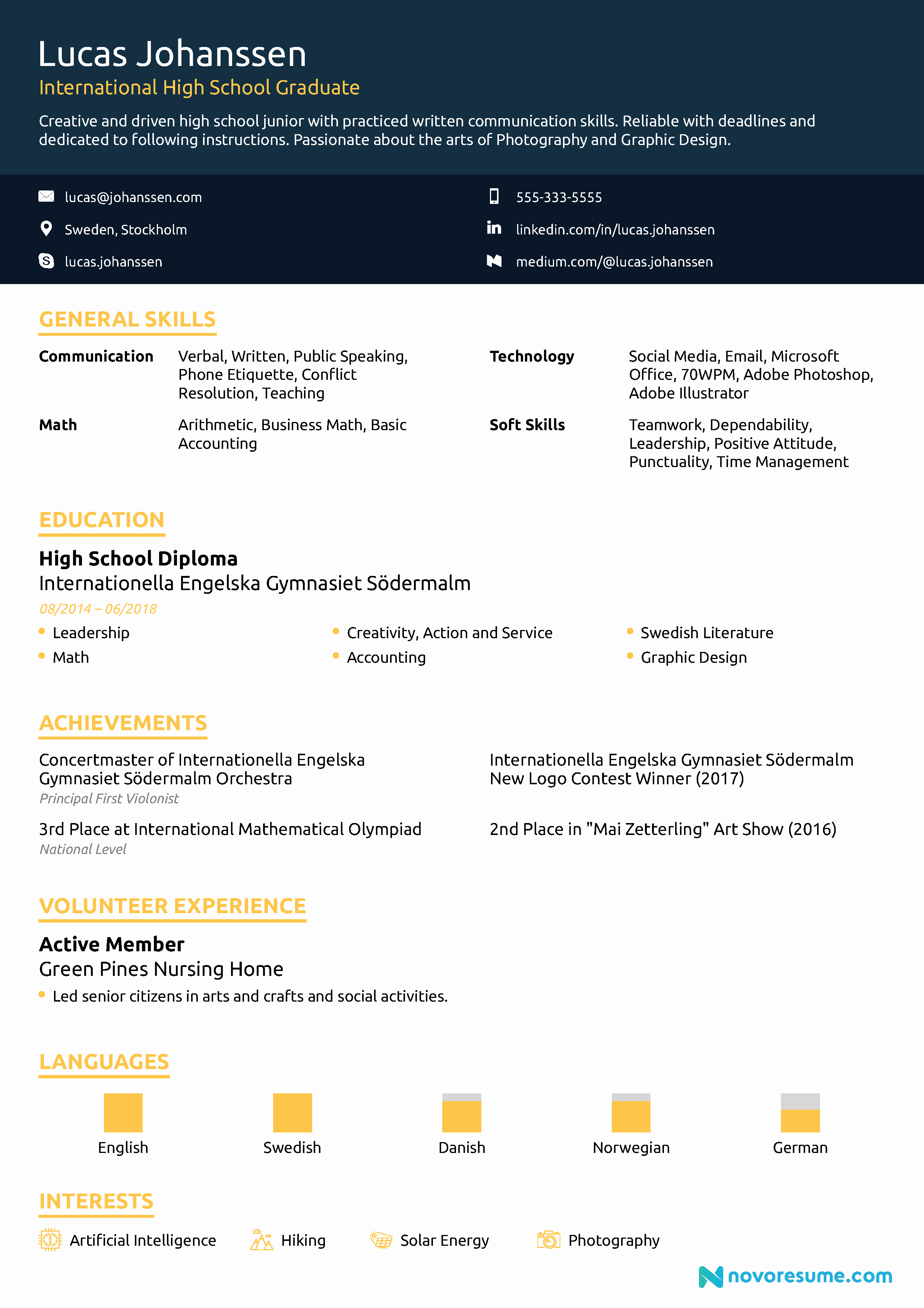 Resumes for High School Graduate New High School Resume [2019] Guide & Examples