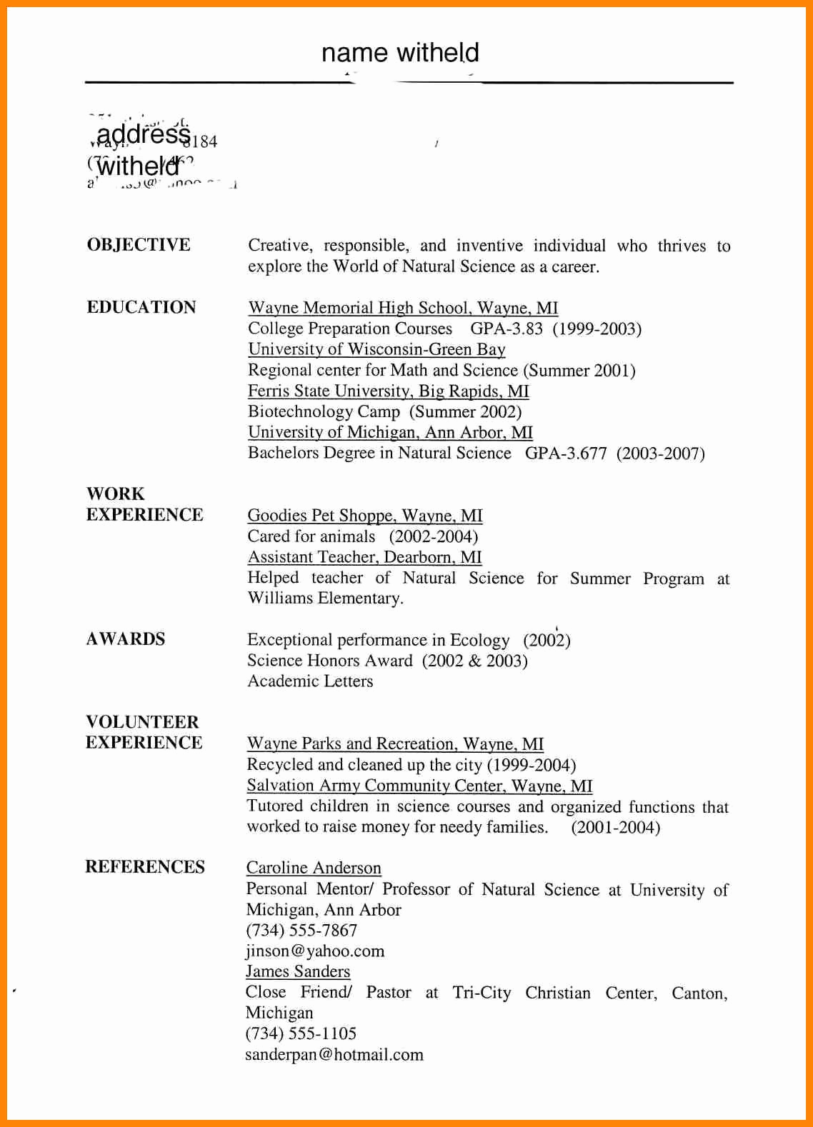 Resumes for High School Students Beautiful Resume Objective Examples for Students