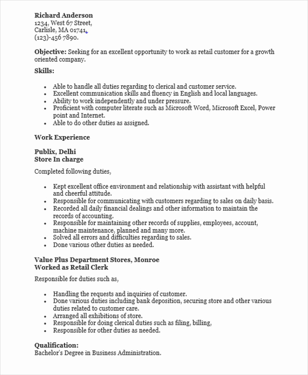 Retail Customer Service Resume Best Of 30 Sales Resume Design Templates Pdf Doc