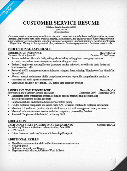 Retail Customer Service Resume Luxury Customer Service Resume Sample Resume Panion