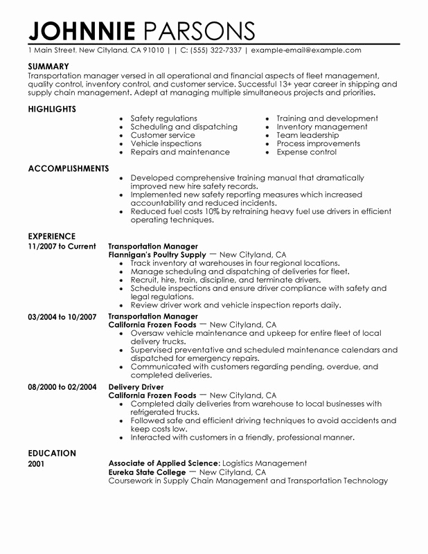 Retail Store Manager Resumes Beautiful Transportation Store Manager Resume Examples Created by