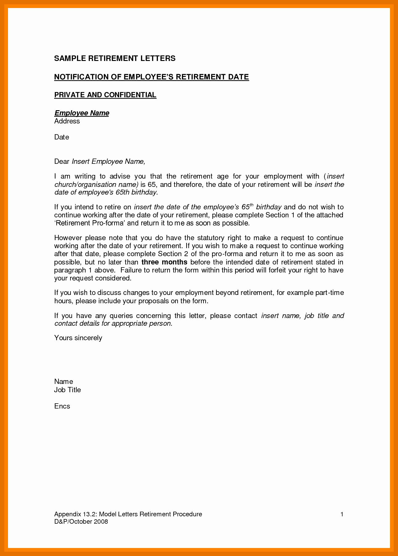 Retirement Letter to Employer Inspirational 8 9 Retirement Letter