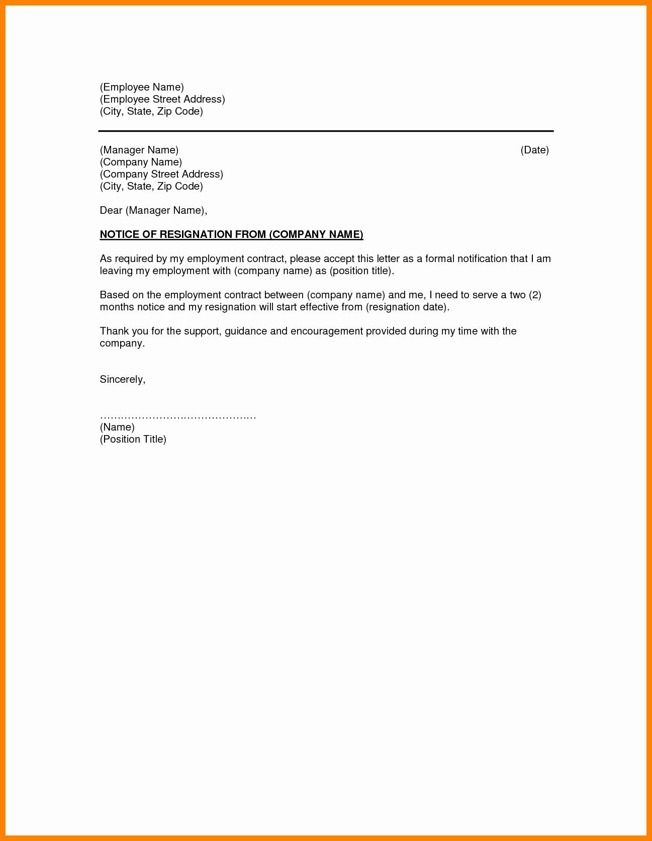 Retirement Letter to Employer Lovely Writing A formal Resignation Letter Sample