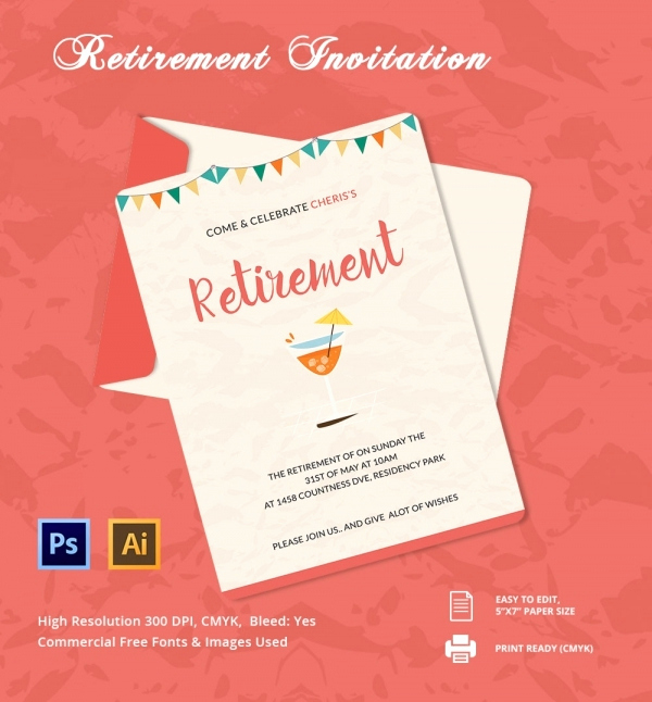Retirement Party Invitation Templates Awesome 33 Party Invitation Templates Free Psd Vector Eps Ai