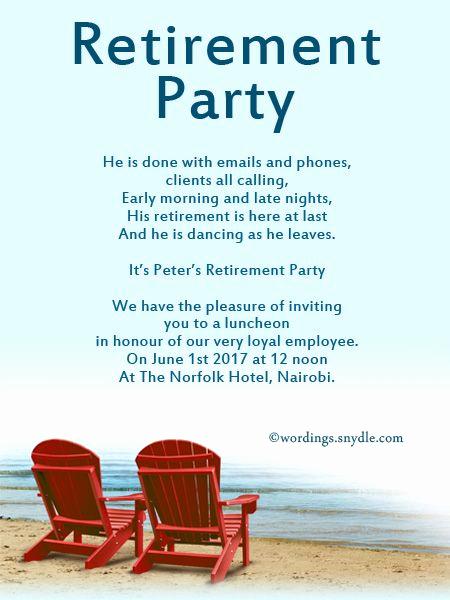 Retirement Party Invitation Templates Beautiful Retirement Party Invitation Wording Ideas and Samples