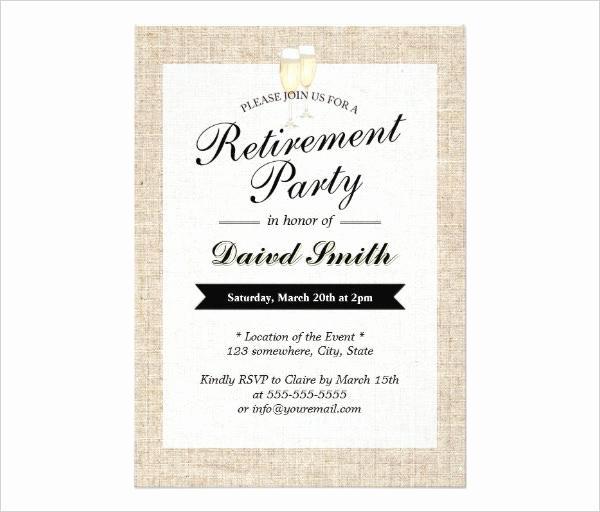 Retirement Party Invitation Templates Elegant 36 Retirement Party Invitation Templates Free Download