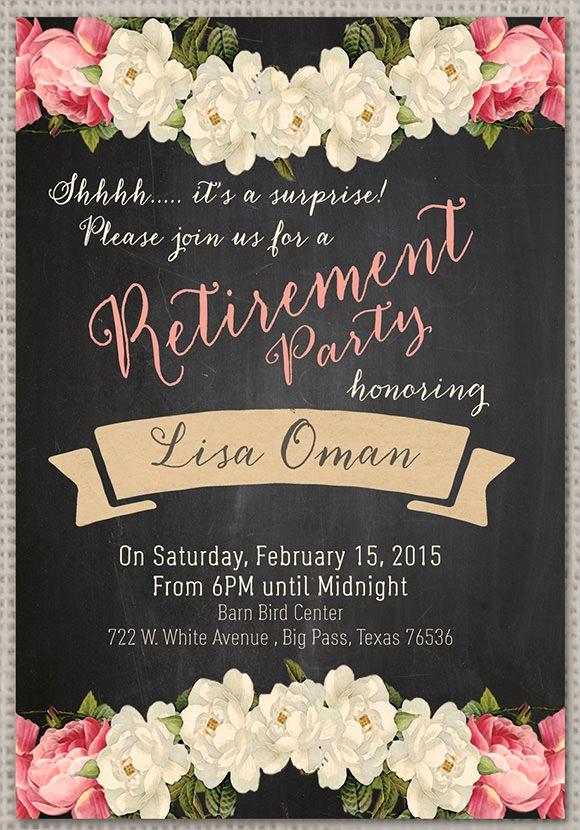 Retirement Party Invitation Templates Elegant Retirement Party Invitation 7 Premium Download