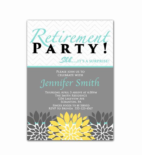 Retirement Party Invitation Templates Elegant Surprise Retirement Party Invitation Blue Yellow by