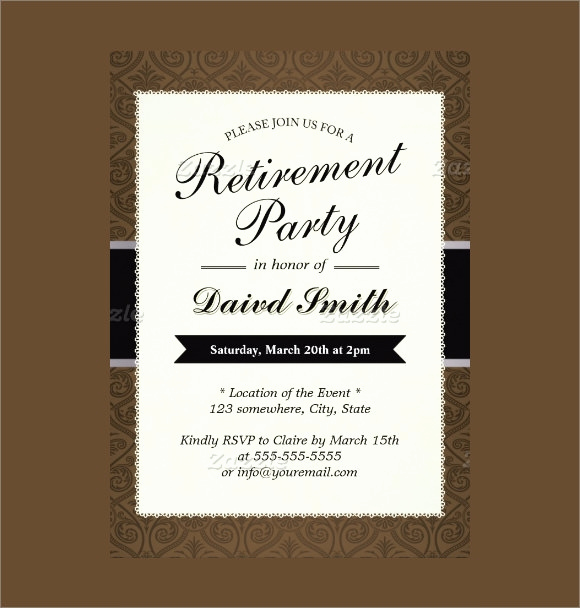 Retirement Party Invitation Templates Lovely 17 Retirement Party Invitations Psd Ai Word Pages