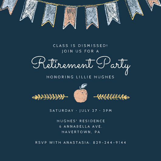 Retirement Party Invitation Templates Lovely Customize 2 876 Retirement Party Invitation Templates