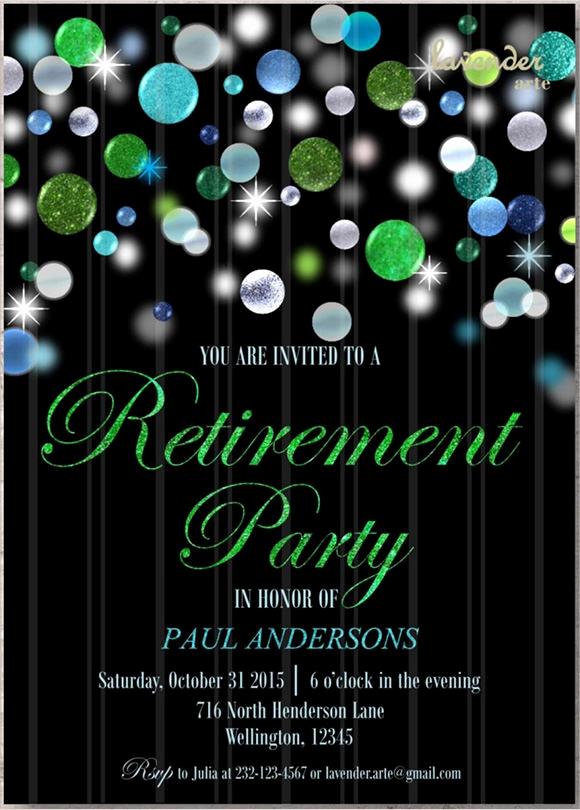 Retirement Party Invitation Templates New 17 Retirement Party Invitations Psd Ai Word Pages