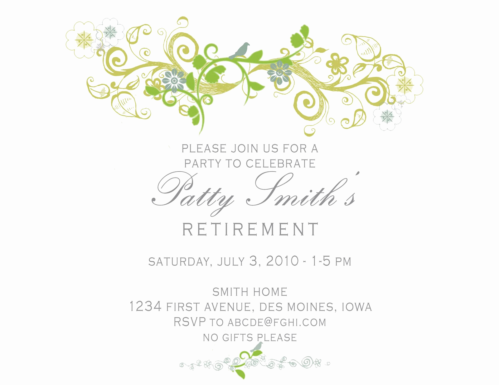 Retirement Party Invitations Template Elegant Idesign A Retirement Party Invitation