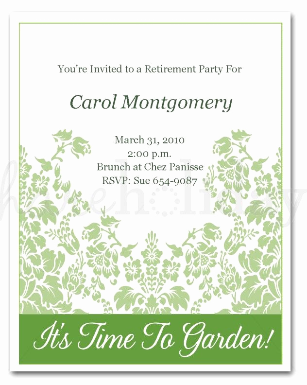 Retirement Party Invitations Template Lovely Retirement Invitation Template Word