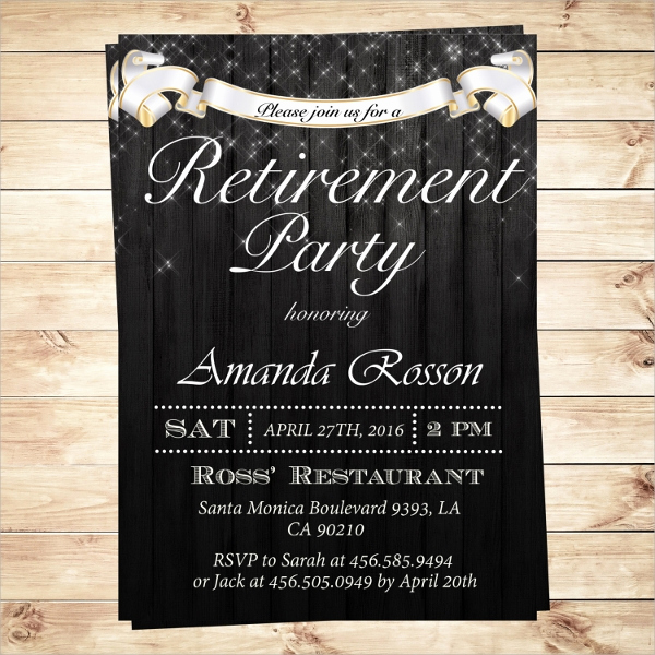 Retirement Party Invitations Template Luxury 17 Retirement Party Invitations Psd Ai Word Pages