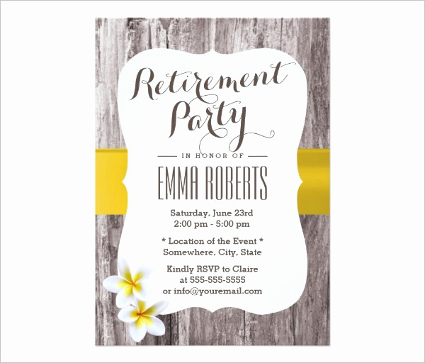Retirement Party Invitations Template New 52 Party Invitation Designs & Examples Psd Ai Eps Vector