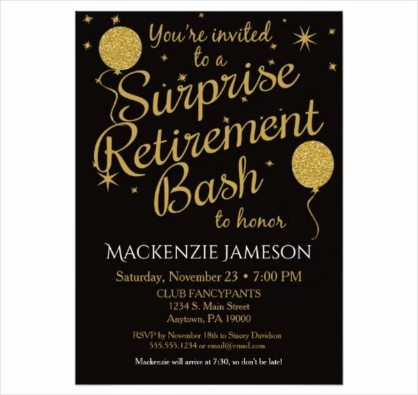 Retirement Party Invitations Template Unique 46 Printable Party Invitation Templates Psd Ai