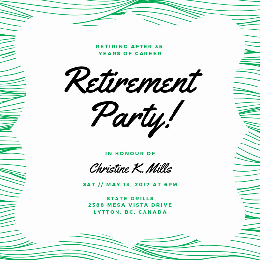 Retirement Party Invite Template Awesome Customize 2 892 Retirement Party Invitation Templates