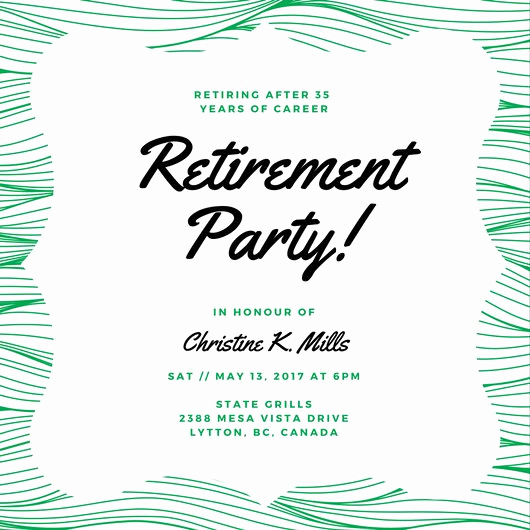 Retirement Party Invite Template Beautiful Customize 3 999 Retirement Party Invitation Templates
