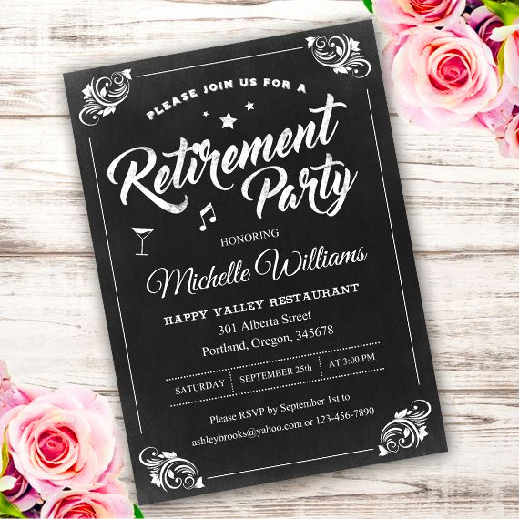 Retirement Party Invite Template Best Of Best 25 Retirement Invitations Ideas On Pinterest