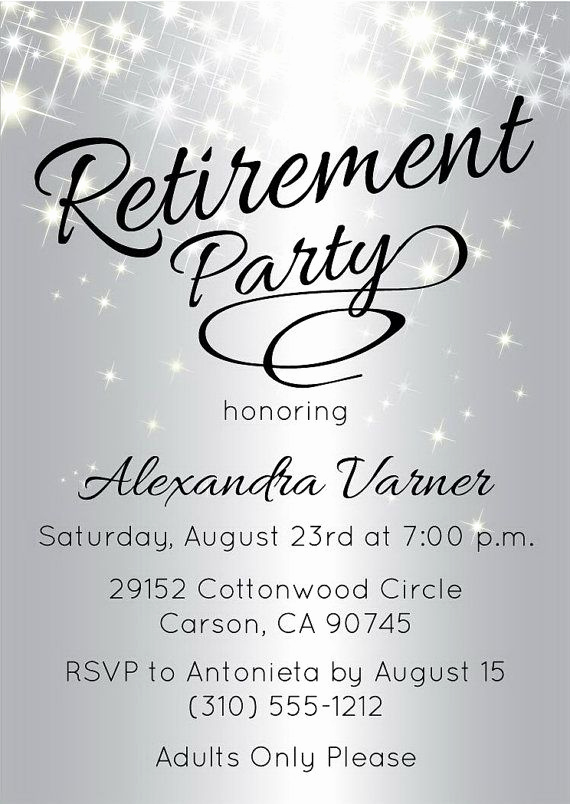 Retirement Party Invite Template Elegant Best 25 Retirement Invitations Ideas On Pinterest