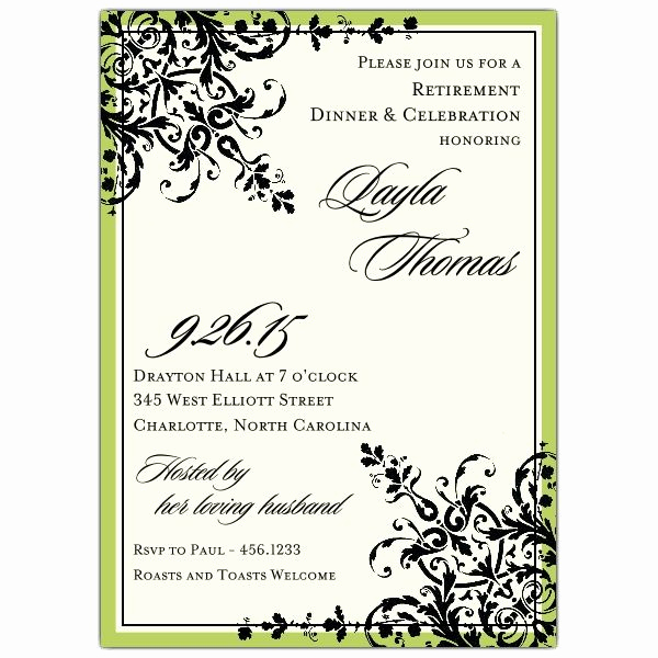 Retirement Party Invite Template Elegant Retirement Party Invitations Templates