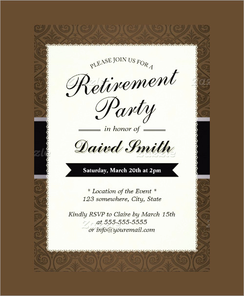 Retirement Party Invite Template Elegant Sample Invitation Template Download Premium and Free