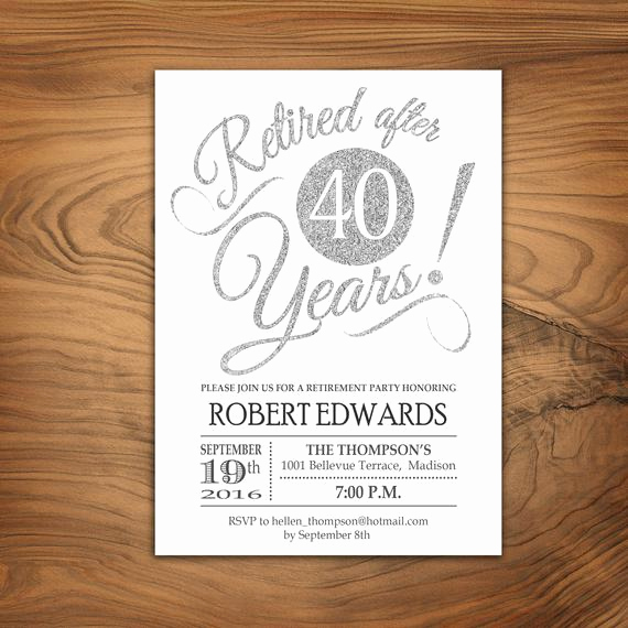 Retirement Party Invite Template Fresh Retirement Party Invitation Retirement Invite Printable