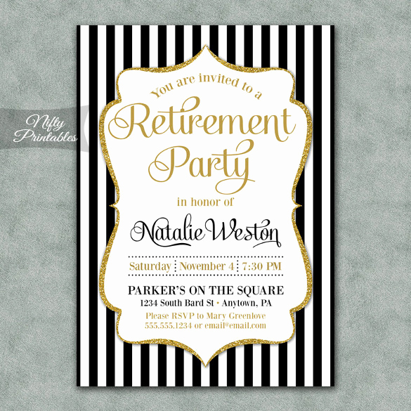 Retirement Party Invite Template Inspirational Retirement Party Invitation Template – 36 Free Psd format