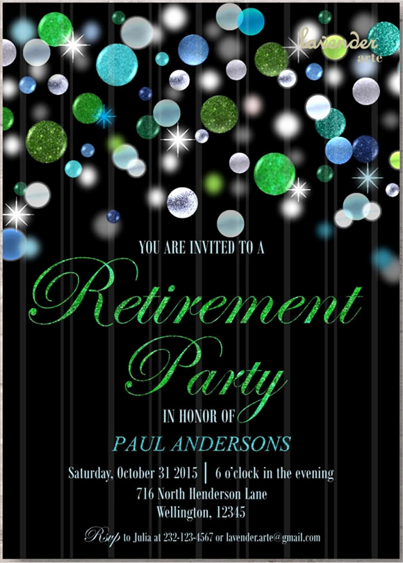 Retirement Party Invite Template Lovely 17 Retirement Party Invitations Psd Ai Word Pages
