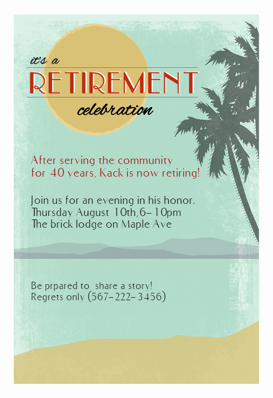 Retirement Party Invite Template Lovely Its A Retirement Celebration Retirement & Farewell Party