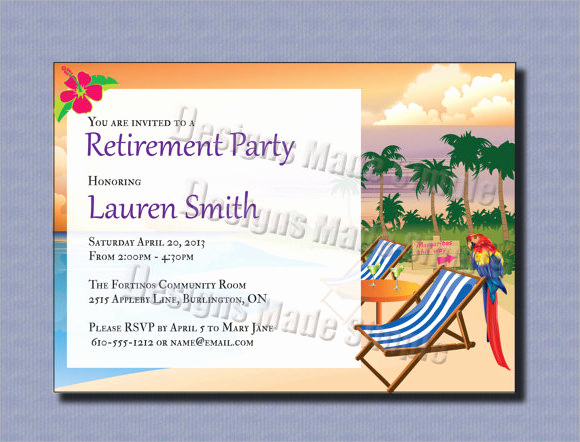 Retirement Party Invite Template Lovely Retirement Party Invitation 7 Premium Download