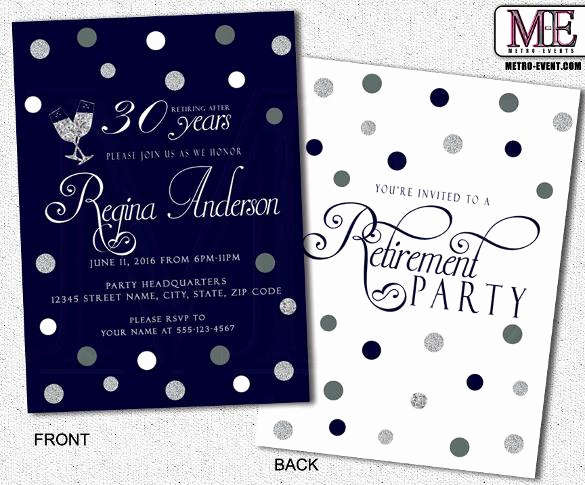 Retirement Party Invite Template Luxury 36 Retirement Party Invitation Templates Free Download