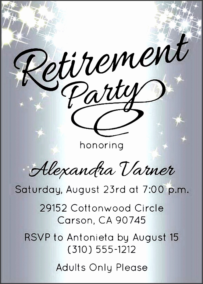 Retirement Party Invite Template Unique 10 Retirement Party Invitation Template Sampletemplatess