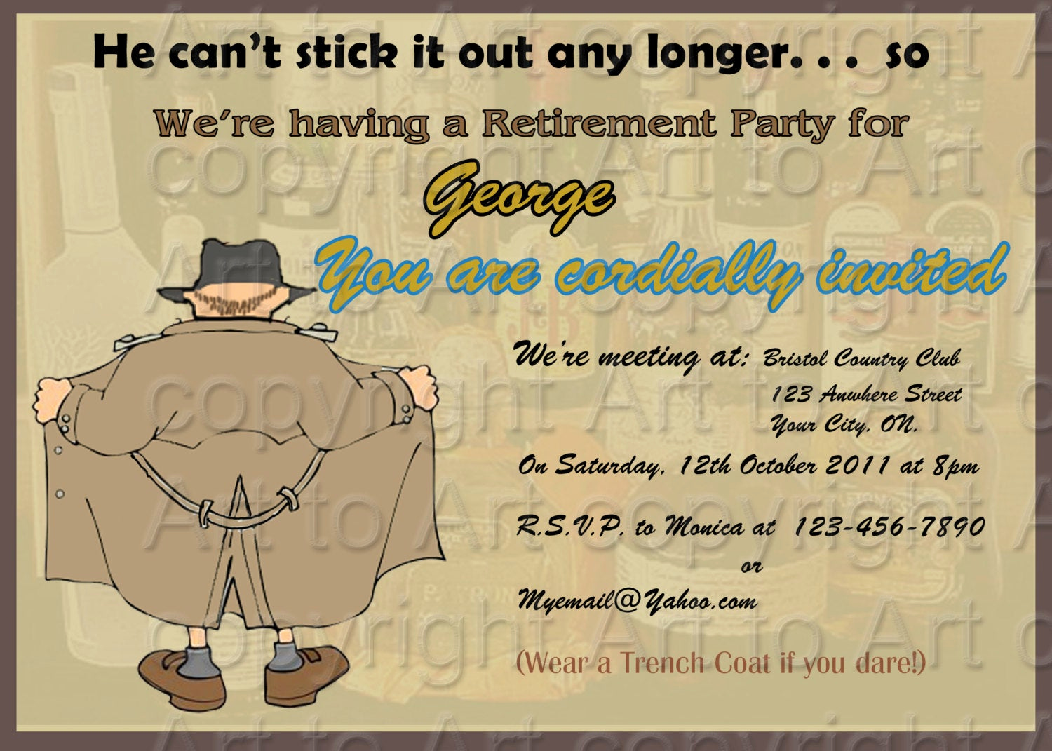Retirement Party Invites Template Best Of Retirement Party Invitation 180 Personalized Digital You