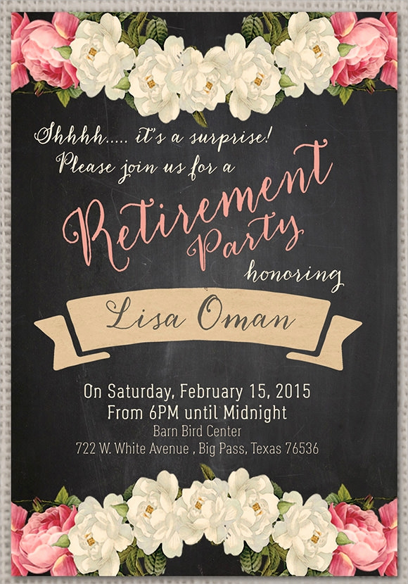 Retirement Party Invites Template Best Of Retirement Party Invitation 7 Premium Download