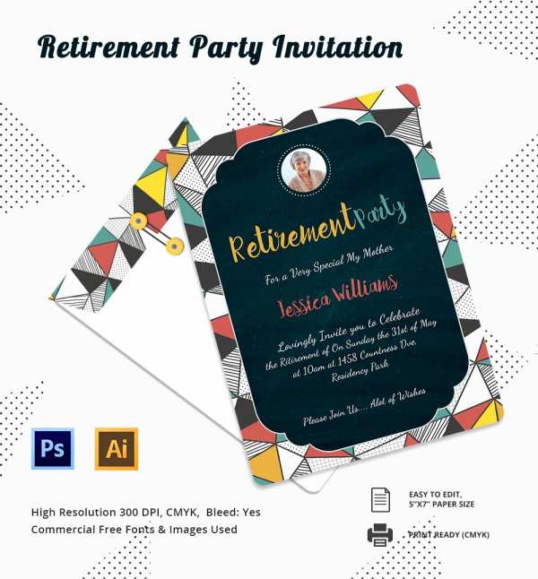 Retirement Party Invites Template Elegant 17 Retirement Party Invitations Psd Ai Word Pages
