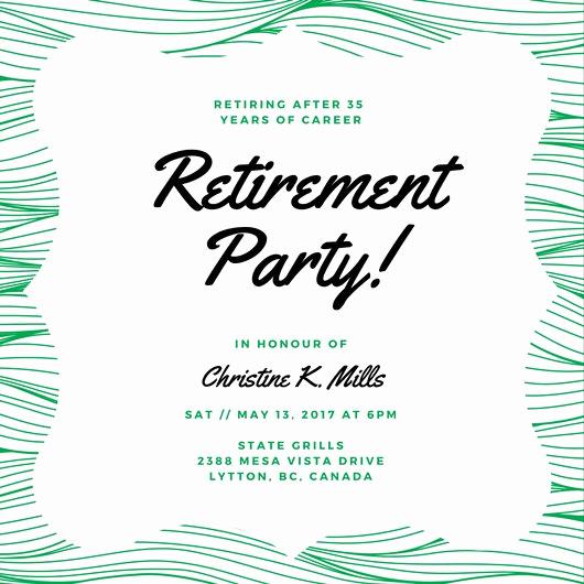 Retirement Party Invites Template Elegant Customize 3 999 Retirement Party Invitation Templates