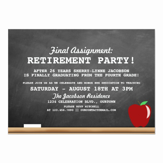 Retirement Party Invites Template Inspirational Teacher Retirement Party Invitation