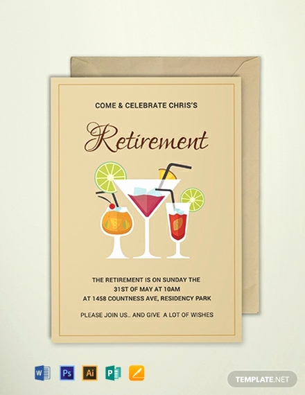 Retirement Party Invites Template Lovely Free Printable Retirement Party Invitation Template