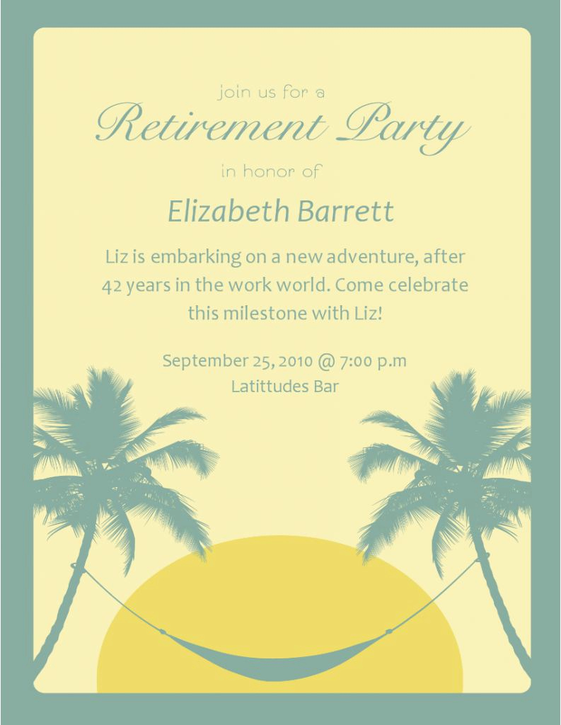 Retirement Party Invites Template Lovely Retirement Invitation Template Retirement Party