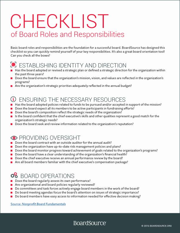 Roles and Responsibilities Template Elegant Roles and Responsibilities Boardsource