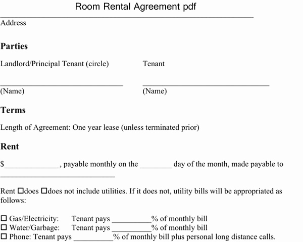 Room Rental Agreement Pdf Beautiful Room Rental Agreement Pdf Excel About