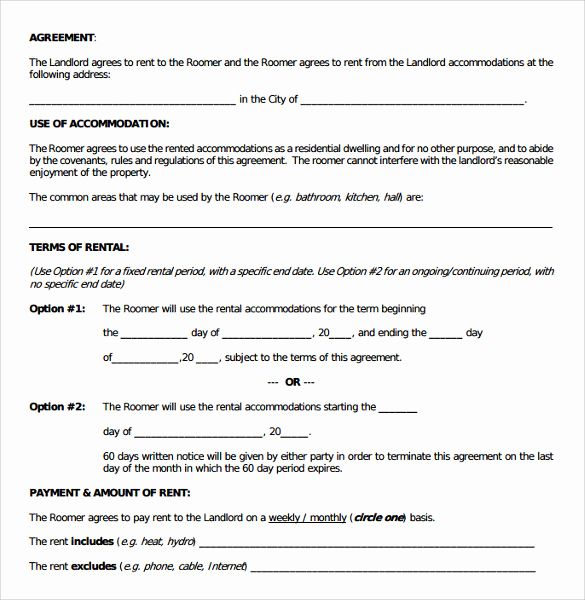 Room Rental Agreement Pdf Best Of 18 Room Rental Agreements to Download for Free