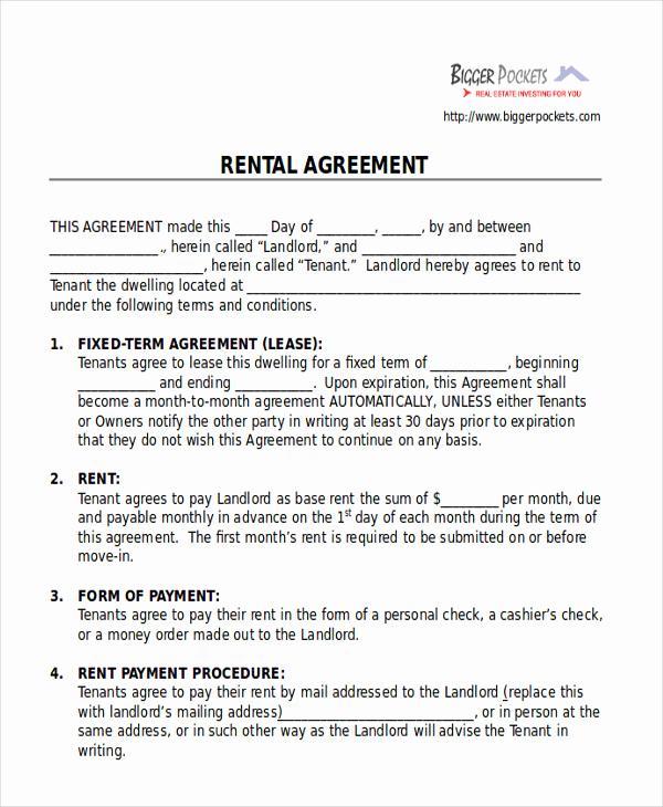 Room Rental Agreement Pdf Elegant 8 Room Rental Agreement form Sample Examples In Word Pdf