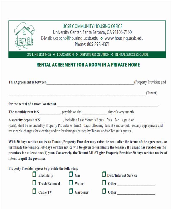 Room Rental Agreement Pdf Lovely 8 Room Rental Agreement form Sample Examples In Word Pdf