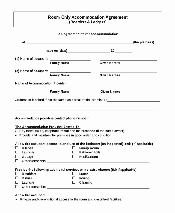 Room Rental Agreement Pdf Luxury 13 Room Rental Agreement Templates – Free Downloadable