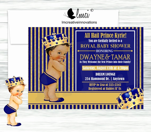 Royal Baby Shower Invitations Best Of Royal Prince Baby Shower Invitation Little Prince Invitation