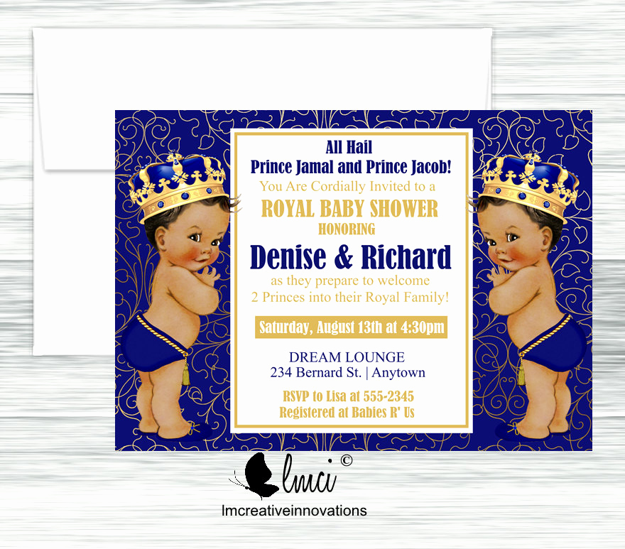 Royal Baby Shower Invitations Lovely Twins Baby Shower Invitation Royal Baby Shower Invitation