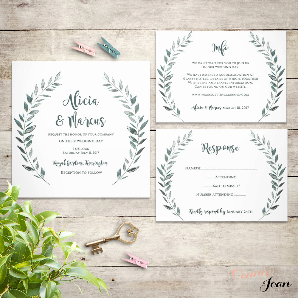 Rustic Wedding Invitation Templates Awesome Wedding Invitation Template Rustic Printable by Connieandjoan