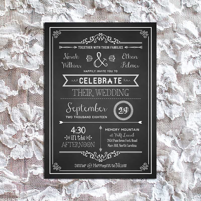 Rustic Wedding Invitation Templates Best Of Vintage Rustic Diy Wedding Invitation Template